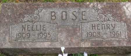 BOSE, NELLIE - Custer County, Nebraska | NELLIE BOSE - Nebraska Gravestone Photos