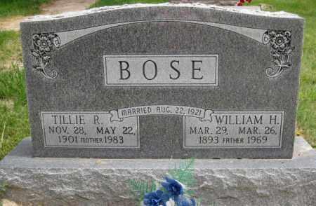 BOSE, WILLIAM H - Custer County, Nebraska | WILLIAM H BOSE - Nebraska Gravestone Photos