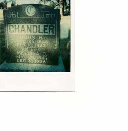 CHANDLER, MELISSA D - Custer County, Nebraska | MELISSA D CHANDLER - Nebraska Gravestone Photos