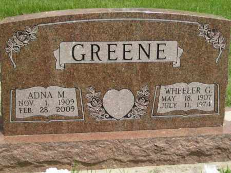 GREENE, ADNA M - Custer County, Nebraska | ADNA M GREENE - Nebraska Gravestone Photos