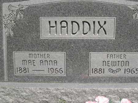 HADDIX, MAE ANNA - Custer County, Nebraska | MAE ANNA HADDIX - Nebraska Gravestone Photos