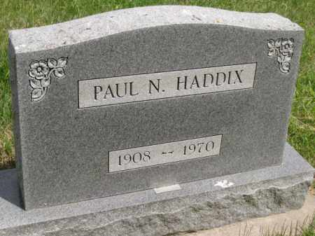 HADDIX, PAUL N - Custer County, Nebraska | PAUL N HADDIX - Nebraska Gravestone Photos