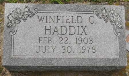 HADDIX, WINFIELD C. - Custer County, Nebraska | WINFIELD C. HADDIX - Nebraska Gravestone Photos