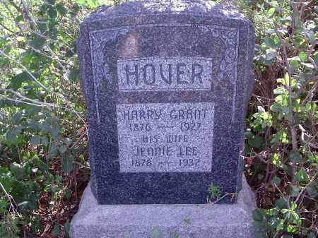HOVER, JENNIE LEE - Custer County, Nebraska | JENNIE LEE HOVER - Nebraska Gravestone Photos