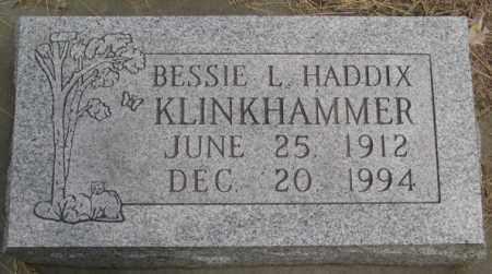 HADDIX KLINKHAMMER, BESSIE L - Custer County, Nebraska | BESSIE L HADDIX KLINKHAMMER - Nebraska Gravestone Photos