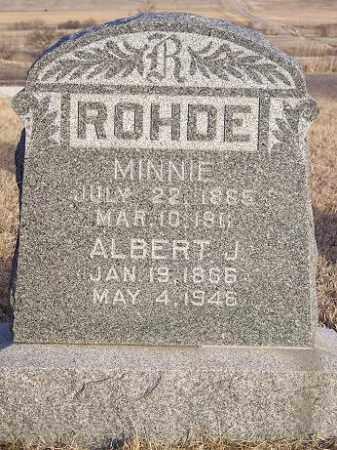 ROHDE, MINNIE - Custer County, Nebraska | MINNIE ROHDE - Nebraska Gravestone Photos