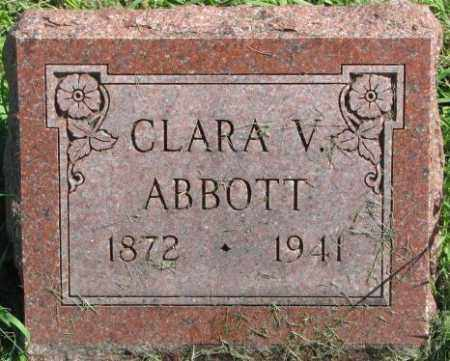 ABBOTT, CLARA V. - Dakota County, Nebraska | CLARA V. ABBOTT - Nebraska Gravestone Photos