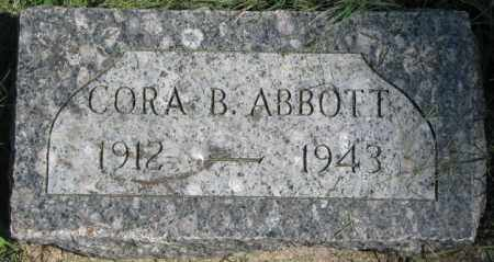 ABBOTT, CORA B. - Dakota County, Nebraska   CORA B. ABBOTT - Nebraska Gravestone Photos