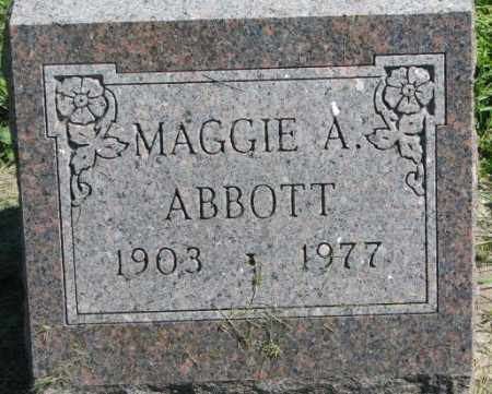 ABBOTT, MAGGIE A. - Dakota County, Nebraska | MAGGIE A. ABBOTT - Nebraska Gravestone Photos