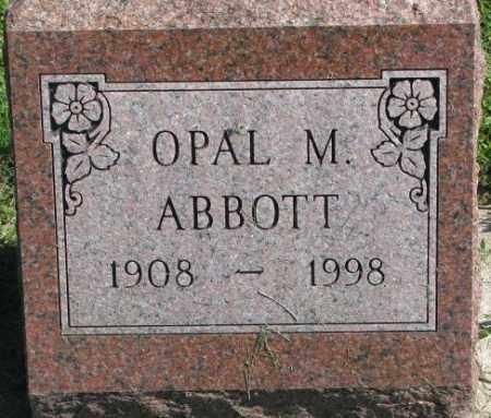 ABBOTT, OPAL M. - Dakota County, Nebraska   OPAL M. ABBOTT - Nebraska Gravestone Photos