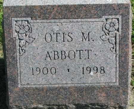 ABBOTT, OTIS M. - Dakota County, Nebraska   OTIS M. ABBOTT - Nebraska Gravestone Photos