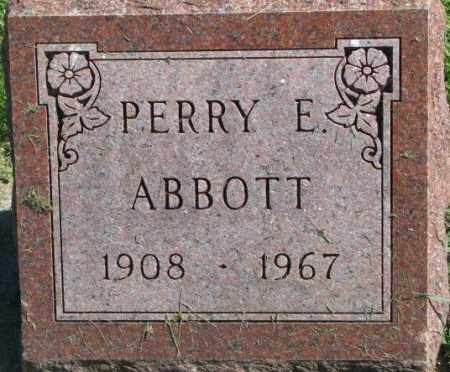 ABBOTT, PERRY E. - Dakota County, Nebraska   PERRY E. ABBOTT - Nebraska Gravestone Photos