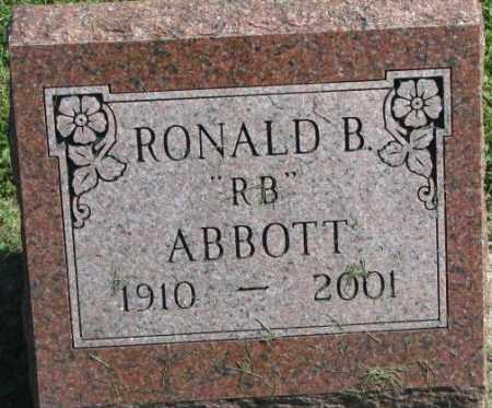 ABBOTT, RONALD B. - Dakota County, Nebraska   RONALD B. ABBOTT - Nebraska Gravestone Photos