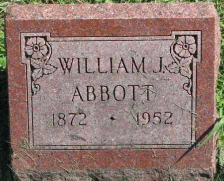ABBOTT, WILLIAM J. - Dakota County, Nebraska | WILLIAM J. ABBOTT - Nebraska Gravestone Photos