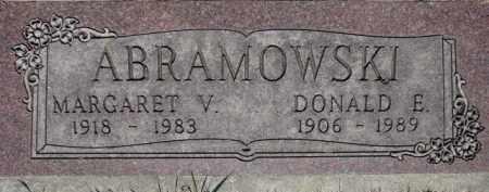 ABRAMOWSKI, DONALD E. - Dakota County, Nebraska | DONALD E. ABRAMOWSKI - Nebraska Gravestone Photos
