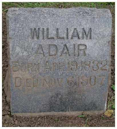 ADAIR, WILLIAM - Dakota County, Nebraska | WILLIAM ADAIR - Nebraska Gravestone Photos