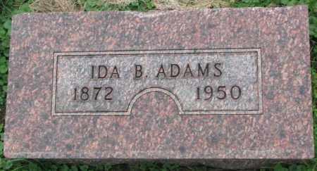 ADAMS, IDA B. - Dakota County, Nebraska | IDA B. ADAMS - Nebraska Gravestone Photos