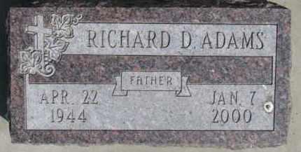ADAMS, RICHARD D. - Dakota County, Nebraska | RICHARD D. ADAMS - Nebraska Gravestone Photos