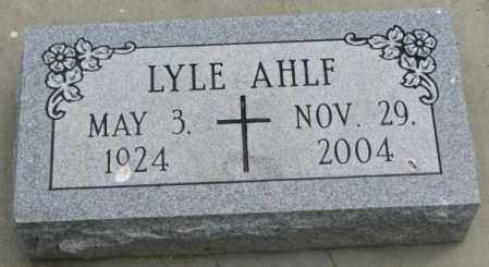 AHLF, LYLE - Dakota County, Nebraska   LYLE AHLF - Nebraska Gravestone Photos