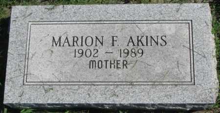 AKINS, MARION F. - Dakota County, Nebraska   MARION F. AKINS - Nebraska Gravestone Photos