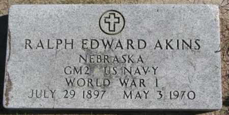 AKINS, RALPH EDWARD - Dakota County, Nebraska | RALPH EDWARD AKINS - Nebraska Gravestone Photos