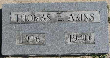 AKINS, THOMAS E. - Dakota County, Nebraska | THOMAS E. AKINS - Nebraska Gravestone Photos