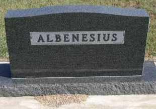 ALBENESIUS, PLOT - Dakota County, Nebraska   PLOT ALBENESIUS - Nebraska Gravestone Photos