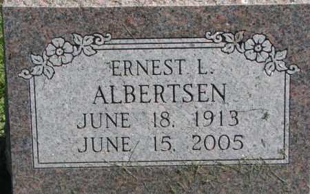 ALBERTSEN, ERNEST L. - Dakota County, Nebraska | ERNEST L. ALBERTSEN - Nebraska Gravestone Photos