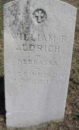ALDRICH, WILLIAM R. - Dakota County, Nebraska | WILLIAM R. ALDRICH - Nebraska Gravestone Photos