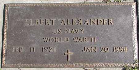 ALEXANDER, ELBERT (MILITARY MARKER) - Dakota County, Nebraska | ELBERT (MILITARY MARKER) ALEXANDER - Nebraska Gravestone Photos