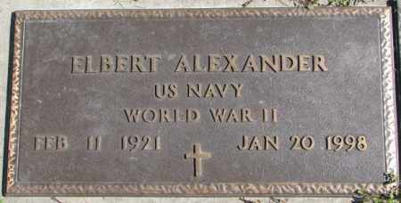 ALEXANDER, ELBERT (MILITARY MARKER) - Dakota County, Nebraska   ELBERT (MILITARY MARKER) ALEXANDER - Nebraska Gravestone Photos