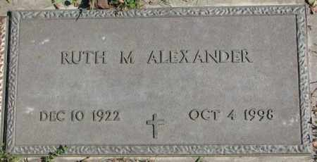 ALEXANDER, RUTH M. - Dakota County, Nebraska   RUTH M. ALEXANDER - Nebraska Gravestone Photos