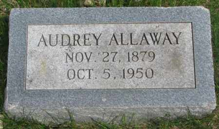 ALLAWAY, AUDREY - Dakota County, Nebraska | AUDREY ALLAWAY - Nebraska Gravestone Photos