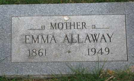 ALLAWAY, EMMA - Dakota County, Nebraska | EMMA ALLAWAY - Nebraska Gravestone Photos