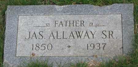 ALLAWAY, JAS. SR. - Dakota County, Nebraska | JAS. SR. ALLAWAY - Nebraska Gravestone Photos