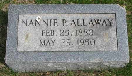 ALLAWAY, NANNIE P. - Dakota County, Nebraska | NANNIE P. ALLAWAY - Nebraska Gravestone Photos