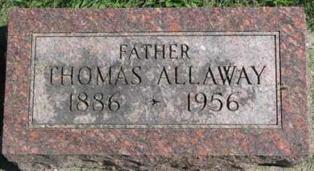 ALLAWAY, THOMAS - Dakota County, Nebraska | THOMAS ALLAWAY - Nebraska Gravestone Photos