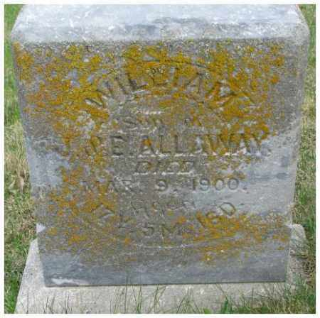 ALLAWAY, WILLIAM - Dakota County, Nebraska | WILLIAM ALLAWAY - Nebraska Gravestone Photos