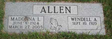 ALLEN, WENDELL A. - Dakota County, Nebraska | WENDELL A. ALLEN - Nebraska Gravestone Photos