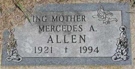 ALLEN, MERCEDES A. - Dakota County, Nebraska | MERCEDES A. ALLEN - Nebraska Gravestone Photos