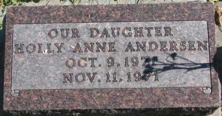 ANDERSEN, HOLLY ANNE - Dakota County, Nebraska | HOLLY ANNE ANDERSEN - Nebraska Gravestone Photos