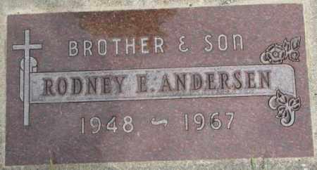 ANDERSEN, RODNEY E. - Dakota County, Nebraska | RODNEY E. ANDERSEN - Nebraska Gravestone Photos