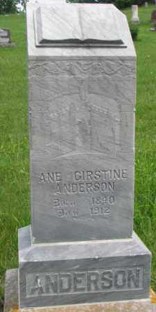 ANDERSON, ANE GIRSTINE - Dakota County, Nebraska | ANE GIRSTINE ANDERSON - Nebraska Gravestone Photos