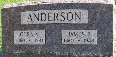 ANDERSON, JAMES B. - Dakota County, Nebraska | JAMES B. ANDERSON - Nebraska Gravestone Photos