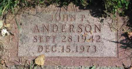 ANDERSON, JOHN P. - Dakota County, Nebraska | JOHN P. ANDERSON - Nebraska Gravestone Photos
