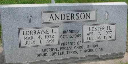 ANDERSON, LORRAINE L. - Dakota County, Nebraska | LORRAINE L. ANDERSON - Nebraska Gravestone Photos
