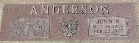 ANDERSON, LUCILLE E. - Dakota County, Nebraska | LUCILLE E. ANDERSON - Nebraska Gravestone Photos