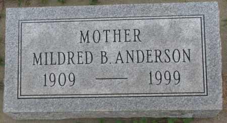 ANDERSON, MILDRED B. - Dakota County, Nebraska   MILDRED B. ANDERSON - Nebraska Gravestone Photos
