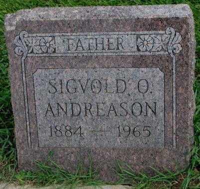 ANDREASON, SIGVOLD O. - Dakota County, Nebraska   SIGVOLD O. ANDREASON - Nebraska Gravestone Photos