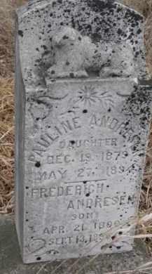 ANDRESEN, FREDERICH - Dakota County, Nebraska | FREDERICH ANDRESEN - Nebraska Gravestone Photos